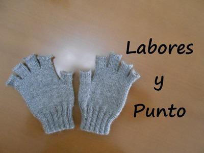 Aprende a tejer guantes con dedos cortos en dos agujas - Parte 1 de 3