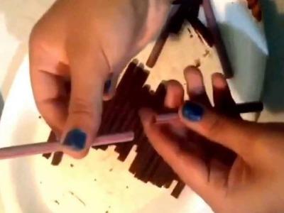 Cigarrillos de Chocolate con caja y Cake Pops Fáciles para San Valentin :3
