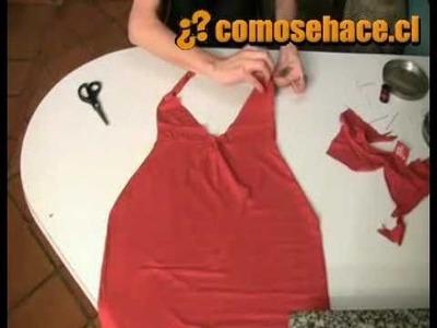 Como convertir una camisa en un vestido ♥ SUSCRIBETE!!
