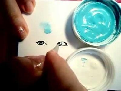 Como crear ojos adhesivos para muñecas