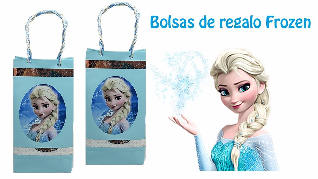 Como hacer Bolsas de  regalo de Frozen