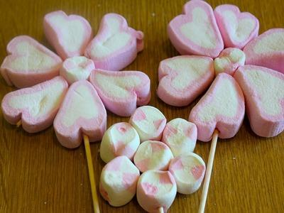 Cómo hacer Flores de bombones, nubes, malvaviscos o bombones