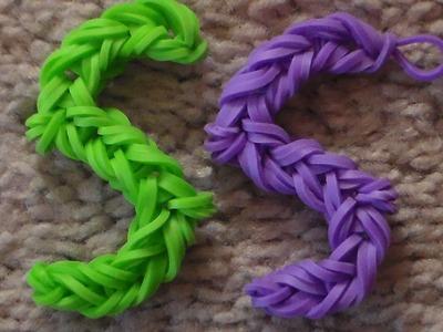 Como Hacer La Letra S Con Gomitas: Rainbow Loom Letter S Charm