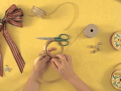 Cómo hacer moños para decorar tu árbol de nav.  : Manualidades navideñas para hacer con tu familia