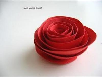 Como hacer rosas de papel {FACIL}. Decoracion para regalo