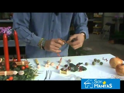 Cómo hacer un centro de mesa para Navidad