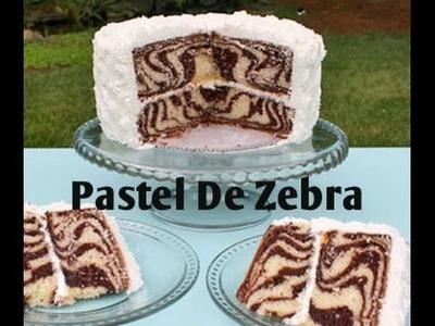 Cómo hacer un pastel de zebra muy fácil - Madelin's Cakes