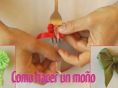 Cómo hacer un pequeño moño con un tenedor - Manualidades para todos