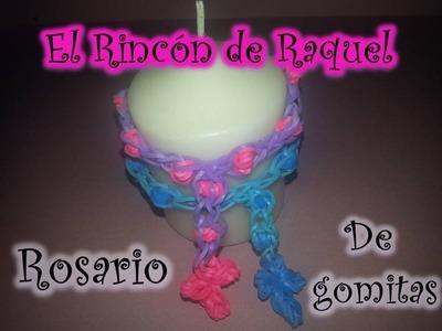 Como hacer un rosario con gomitas rainbow loom