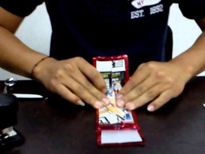 Como hacer una cartera reciclada 2