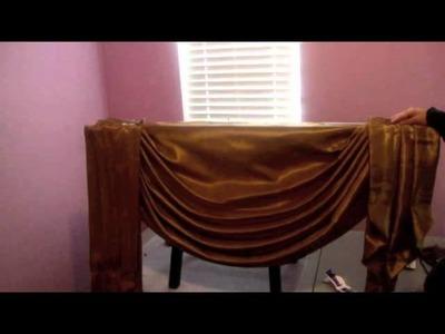 Cómo hacer una cortina drapeada Parte 3.3 - Cómo instalar la cortina - La receta de la abuelita