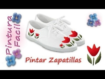 Como Pintar Zapatillas *Paint Sneakers* Pintura Facil Para Ti