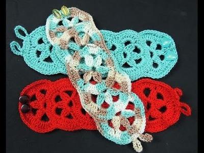 Crochet : Brazalete o Pulsera
