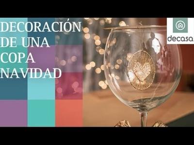 Decoración de una copa | DIY Navidad