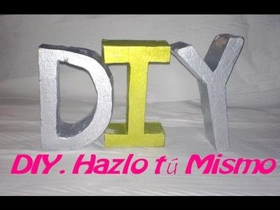 (DIY) Cómo hacer letras decorativas con escayola. Fácil y barato.