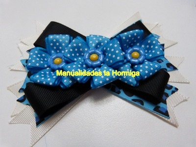DIY,Decora facilmente moños y lazos con flores pequeñas. how to decorate bows easily