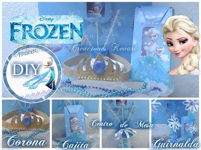 DIY Fiesta de Frozen (Bolsita o Dulcero,Centro de mesa,Guirnaldas,Corona). Birthday Party Ideas