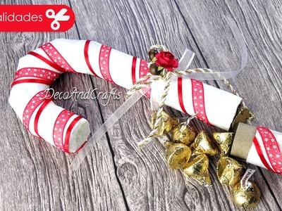 Dulcero Navideño Bastón de caramelo - DecoAndCrafts