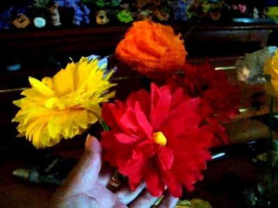 Flores d papel crepe,sanitrio y servilletas 1 y otras manualidades de LA RUBIA