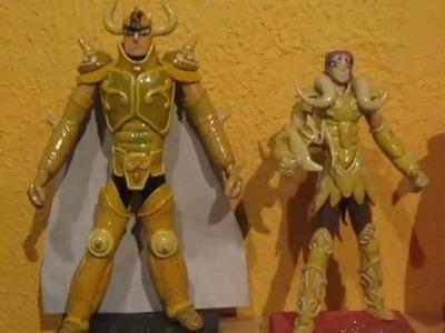 Los Caballeros Dorados(Saint Seiya)-figuras en plastilina