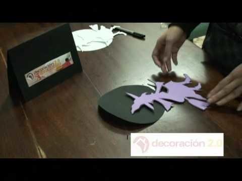 Manualidad Halloween: hacer una bruja de goma eva