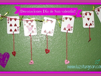 Manualidades faciles para san Valentín -- Decoraciones