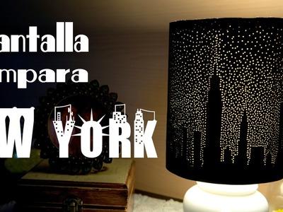 Pantalla de Lampara New York Estrellado de Papel Bellisimo y Facil