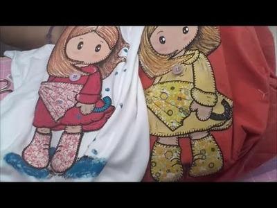 Patchwork camiseta niña con paraguas