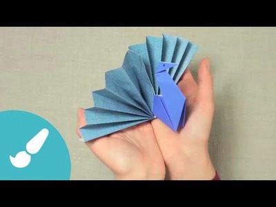 Pavo real en Origami 3D I Peacock origami 3D