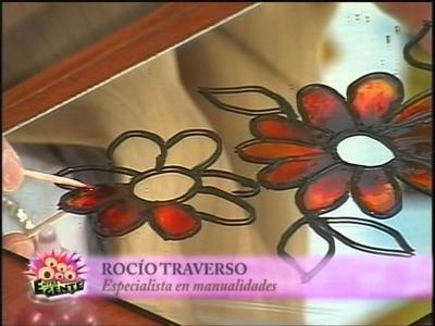 Pintura vitral sobre espejo con Rocio Traverso
