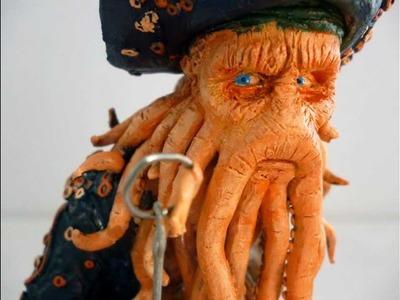 Piratas del Caribe -Davy Jones escultura en plastilina -Pagkt0- ABR2012