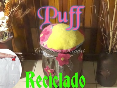 Puff Reciclado con Botellas Plasticas.Plastic Bottle Puff