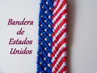 Pulsera de Hilo: Bandera de Estados Unidos