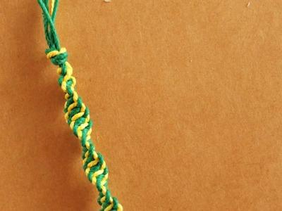 Pulsera Macrame: Espiral. Dos colores