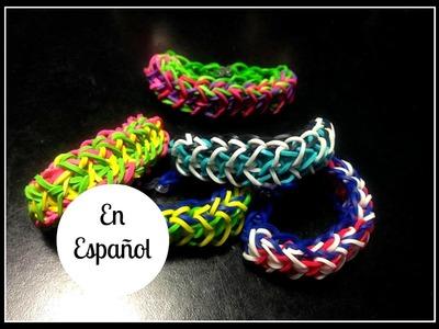 Rainbow Loom en ESPAñOL - Pulseras de Gomitas Liberty Twist- DIY