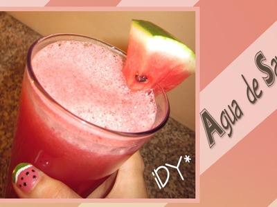 Receta Fácil: Agua de Sandía.Watermelon Juice . mmm!!!