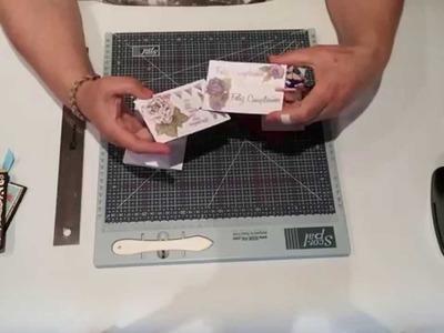 Tuto-scrap : cómo hacer una tarjeta deslizante, superoriginal.