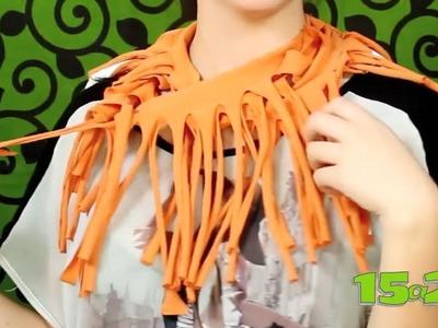 Tutorial: Convierte una playera en un foulard de tiritas