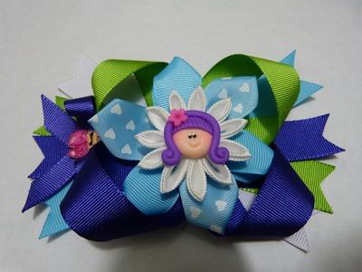 Tutorial Moños flores en cinta para decorar accesorios para el cabello paso a paso