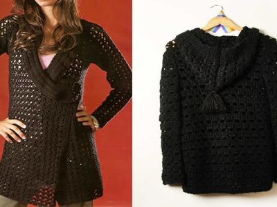 Abrigos tejidos en crochet imagenes e ideas