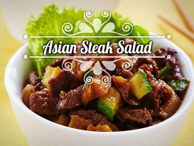 Chef Oropeza Receta: Asian steak salad