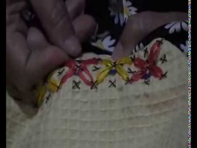 Como bordar un sobre mantel en punto español