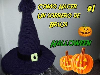 Como hacer un sombrero de Bruja para Halloween Parte 1.2