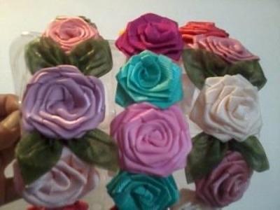 Como hacer una diadema con rosas(disculpas por el audio dejo lista material)