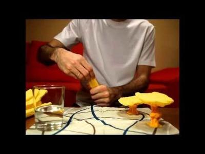 Cómo hacer una seta con una servilleta