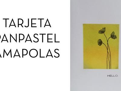 Cómo hacer una tarjeta con PanPastel y sellos.