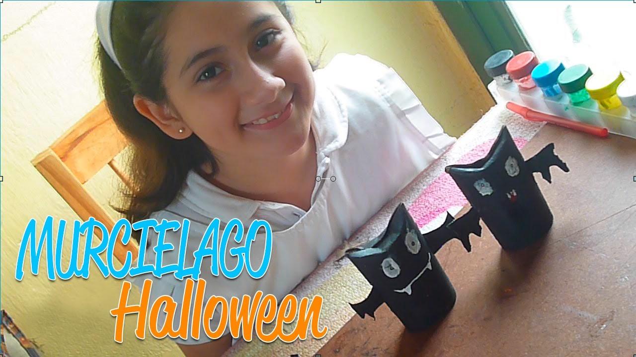 DIY ¡Manualidad día de Halloween con material reciclado! | MANUALIDAD MURCIELAGO DE PAPEL.
