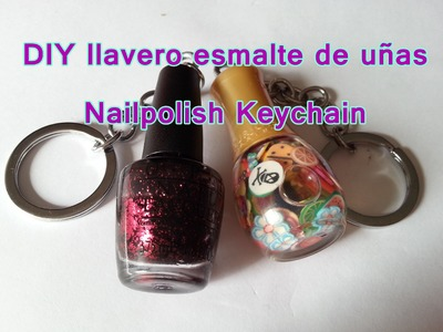 DIY llaveros de laca de uñas. Nailpolish Keychain