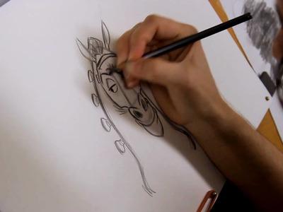 Enredados: Aprende a dibujar a Maximus