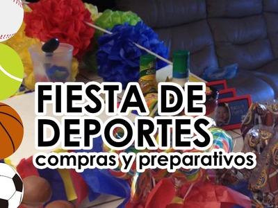 Fiest infantil de DEPORTES (pelotas) PREPARATIVOS Y COMPRAS para primer cumpleaños de mi bebé